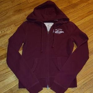 Hollister zip-up hoodie